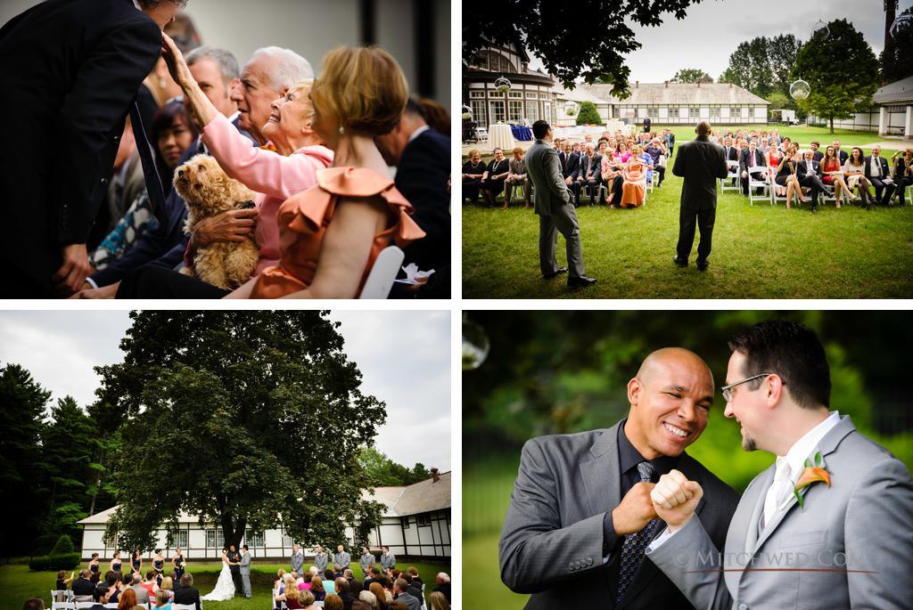outdoor wedding ceremony national museum of dance